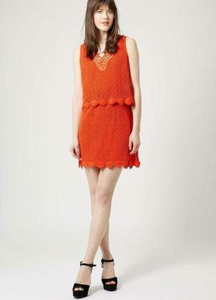 Очень красивое платье морковного цвета topshop