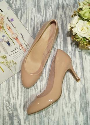 Marks&spencer. красивые туфли в нюдовом оттенке