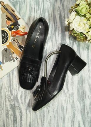 Next. кожа. стильные лоферы высокого качества на устойчивом каблуке