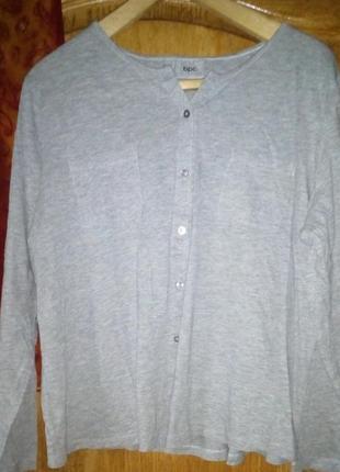 Серая меланжевая кофта с карманами бонприкс