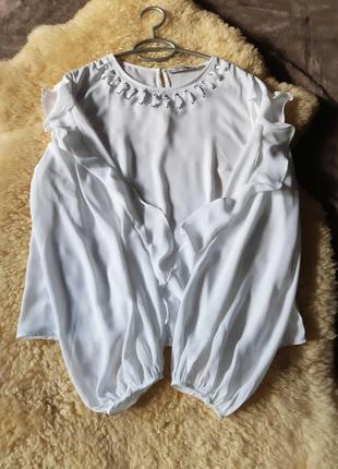 Женская белая блуза guess