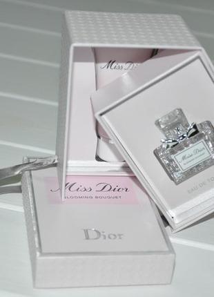 Набор миниатюр miss dior blooming аромат 5мл miss dior blooming body milk 20мл