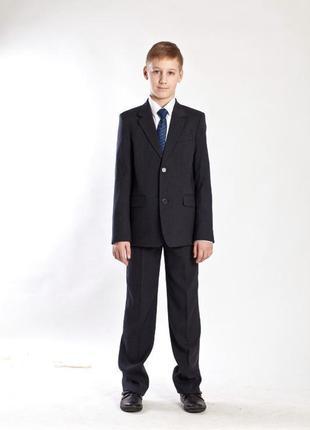 Костюм школьный для мальчика 12-13 лет/темно-серый(графит) luko tone/турция/школьная