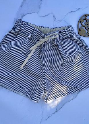 Шорты женские коттон коттоновые полоска в полоску джинсовые джинс