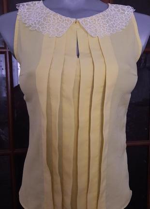 Эксклюзивная, супер красивая, нежная, приталенная, шифоновая блуза. vilonna