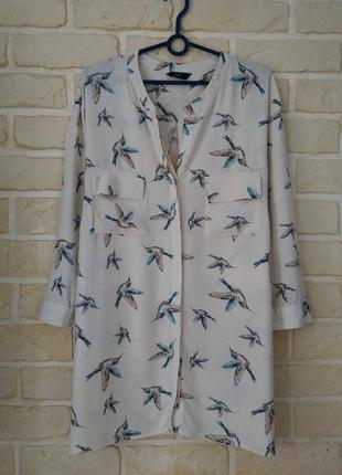Натуральная, вискозная рубашка, большой размер