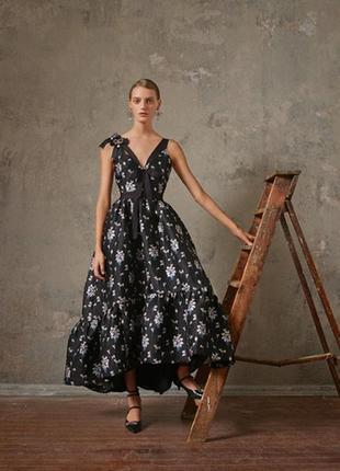 Жаккардовое платье из коллаборации erdem x h&m,p.xxs-xs