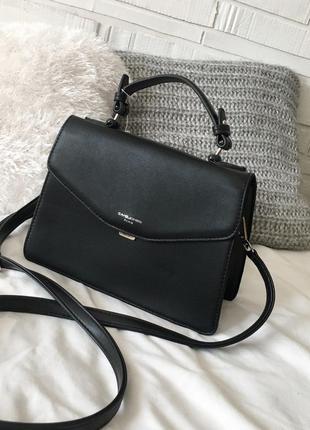 Трендова сумка david jones в чорному кольорі