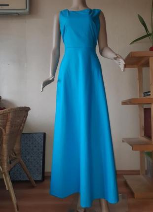 Длинное летнее платье в пол платье открытая спина