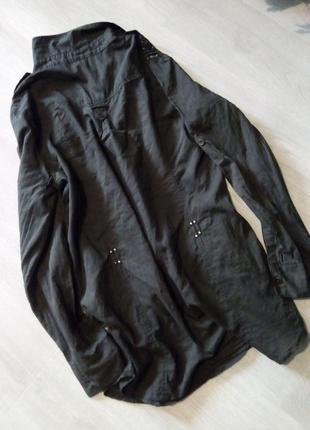 Брендовая рубашка туника хаки