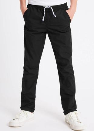 Зауженные прямые брюки джинсы с трикотажным поясом next