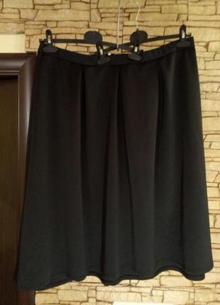 Трендовая юбка-колокол, 78миди,большой размер