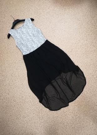 Летнее ассиметричное платье р. м