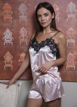 Шикарная сатиновая пижама 057