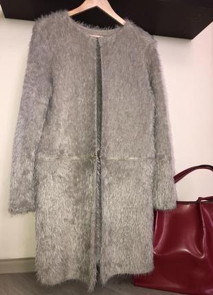 Классное пушистое пальто - кардиган трансформер меховой , кофта травка, накидка меховая