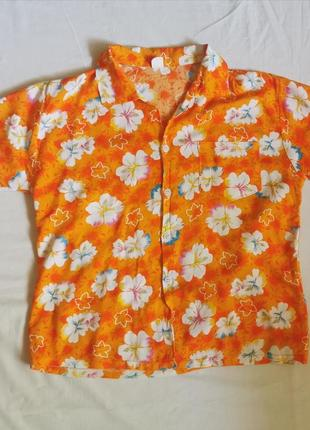 Яркая гавайская рубашка гавайка пляжная