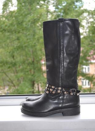 3fc93e030b13 Кожаные сапоги женские 2019 - купить недорого вещи в интернет ...