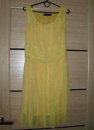 Желтое нарядное платье