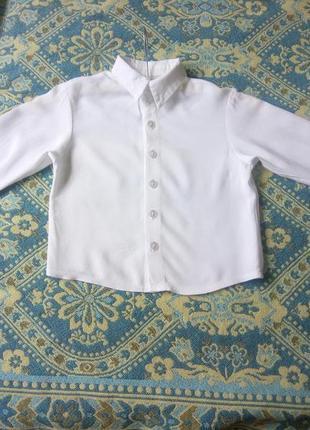Рубашка белая р.98-104.
