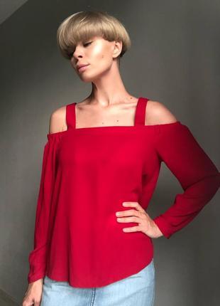 Красная блуза new look