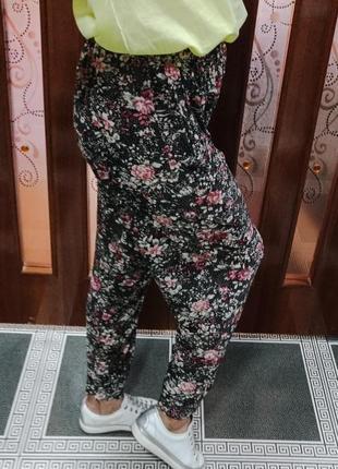 Летние тонкие штаны с карманами размер l 50-52