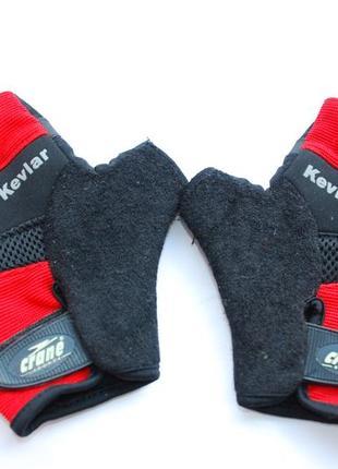 Сrane перчатки треннировачные велосипедные подушечки  красные черные m