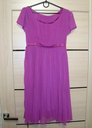 Лиловое нарядное платье