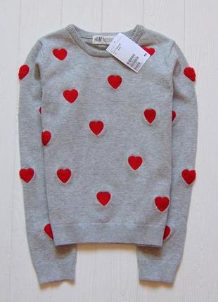 H&m. размер 6-8 лет. новый трендовый свитер для девочки