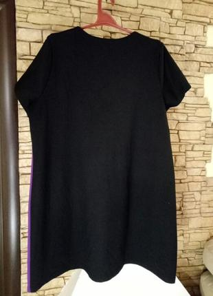 Короткое платье,туника из плотного трикотажа,большой размер2 фото