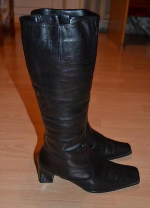 Зимние кожаные сапоги на цигейке gabor2