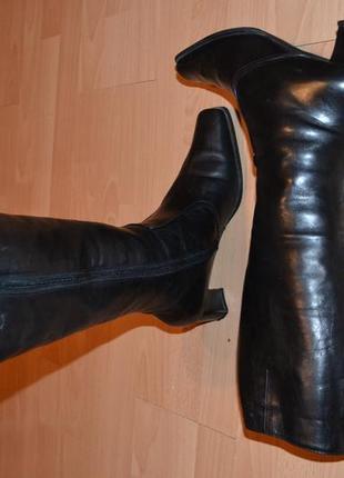 Зимние кожаные сапоги на цигейке gabor4