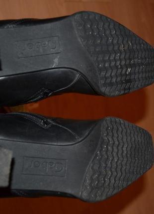Зимние кожаные сапоги на цигейке gabor5