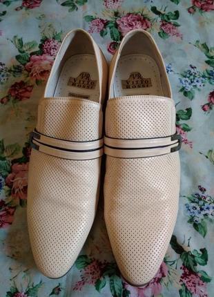 Туфли из натуральной кожи, размер 42