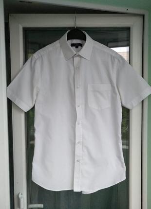 Шведка george р.s/m (uk 15 eur 39) мужская белая рубашка
