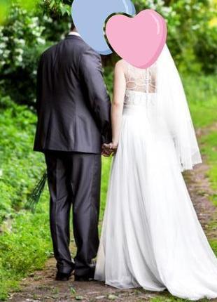 Шикарное нежное свадебное платье etienne leroy