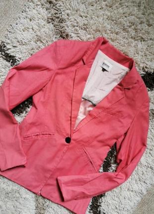 Пиджак лососевый светло корраловый