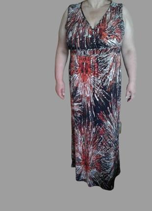 Летнее длинное платье в пол.