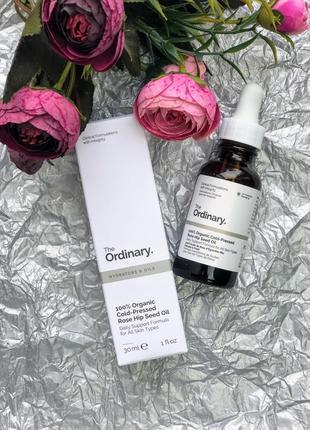 100% органическое масло семян шиповника the ordinary 100% organic cold-pressed rose