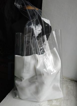 Сумка из винила.виниловая сумка. прозрачная сумка.