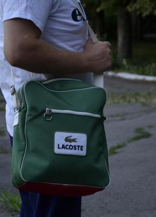 Мессенджер lacoste retro sport bag