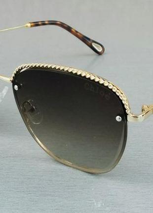 Chloe очки женские солнцезащитные в металлической оправе
