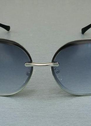 Bvlgari очки женские солнцезащитные серые в металлической оправе