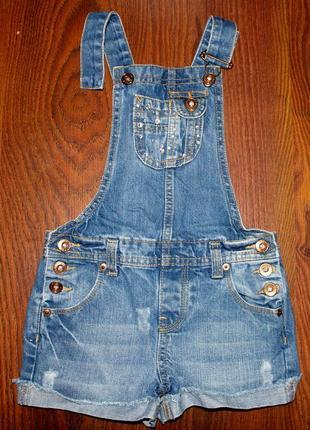 Джинсовый комбинезон, шорты на девочку 3-4 года