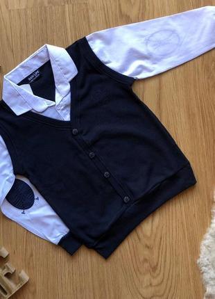 Рубашка жилетка обманка