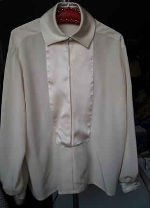 Шикарная шелковая фирменная блузка от christian dior