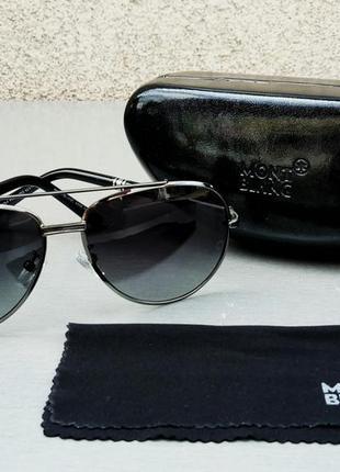 Montblanc очки капли мужские солнцезащитные черные