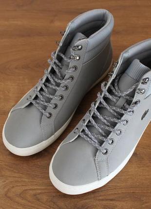 Водонепроницаемые ботинки с утеплителем lacoste straightset 318 3 cam