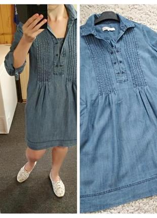 Стильное джинсовое платье рубашка,с кармашками,gerard darel, p. 38/40