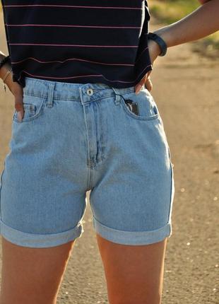 Джинсовые шорты мом