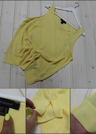 Primark.лимонная майка.блуза.